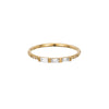 Gold & White Diamond 3 Baguette Equilibrium Ring by Jennie Kwon for Broken English Jewelry