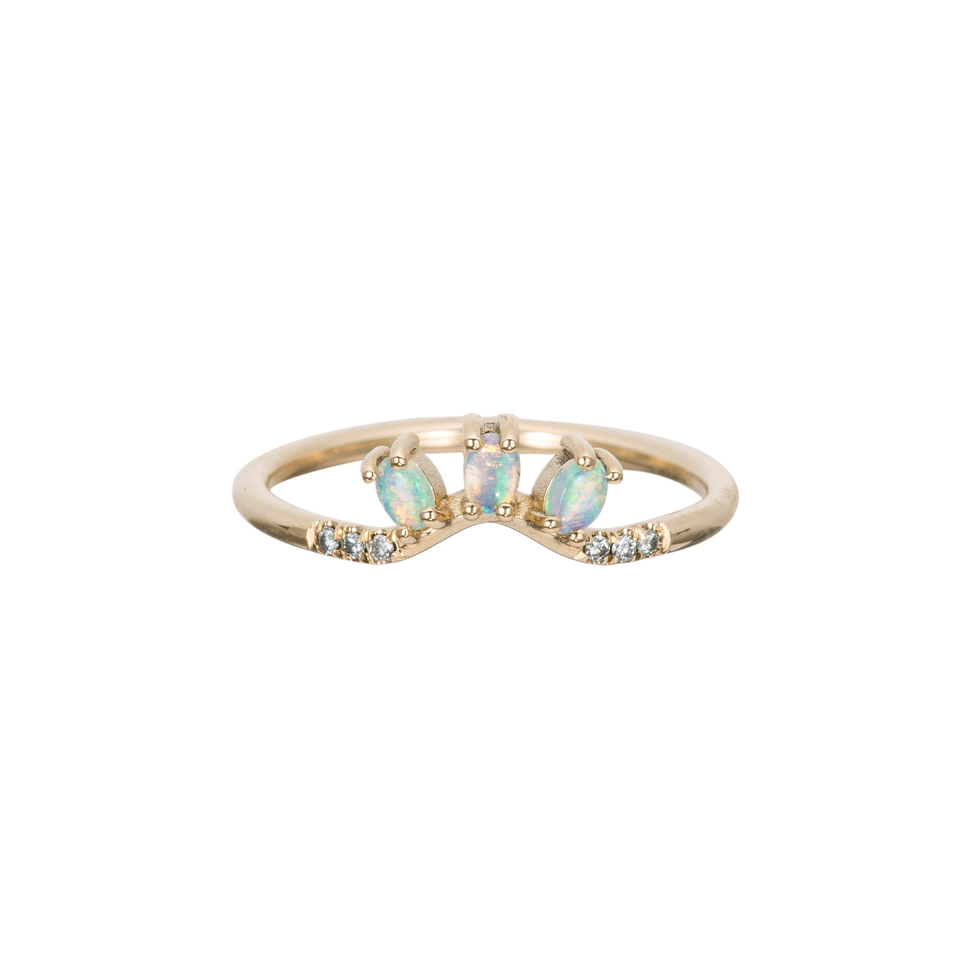 Diamond Opal Trio Equilibrium Ring