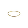 Gold & White Diamond Three Bezel Ring by Jennie Kwon for Broken English Jewelry