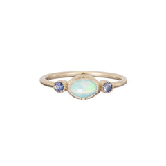 Sapphire Opal Reese Ring by Jennie Kwon for Broken English Jewelry