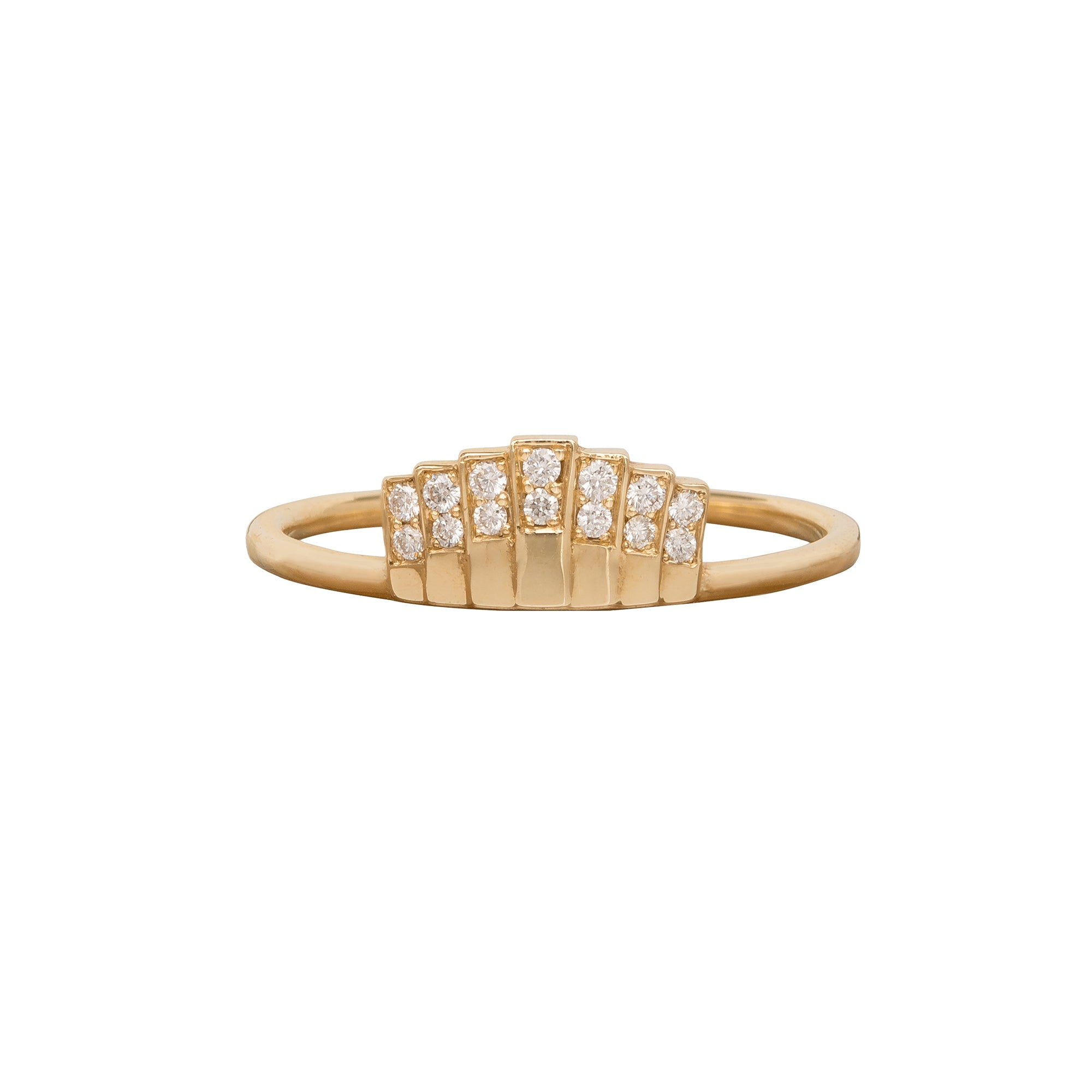 Diamond Fan Ring - Jennie Kwon - Ring | Broken English Jewelry