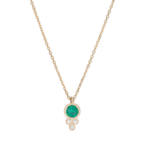 Emerald Crown Necklace by Jennie Kwon for Broken English Jewelry