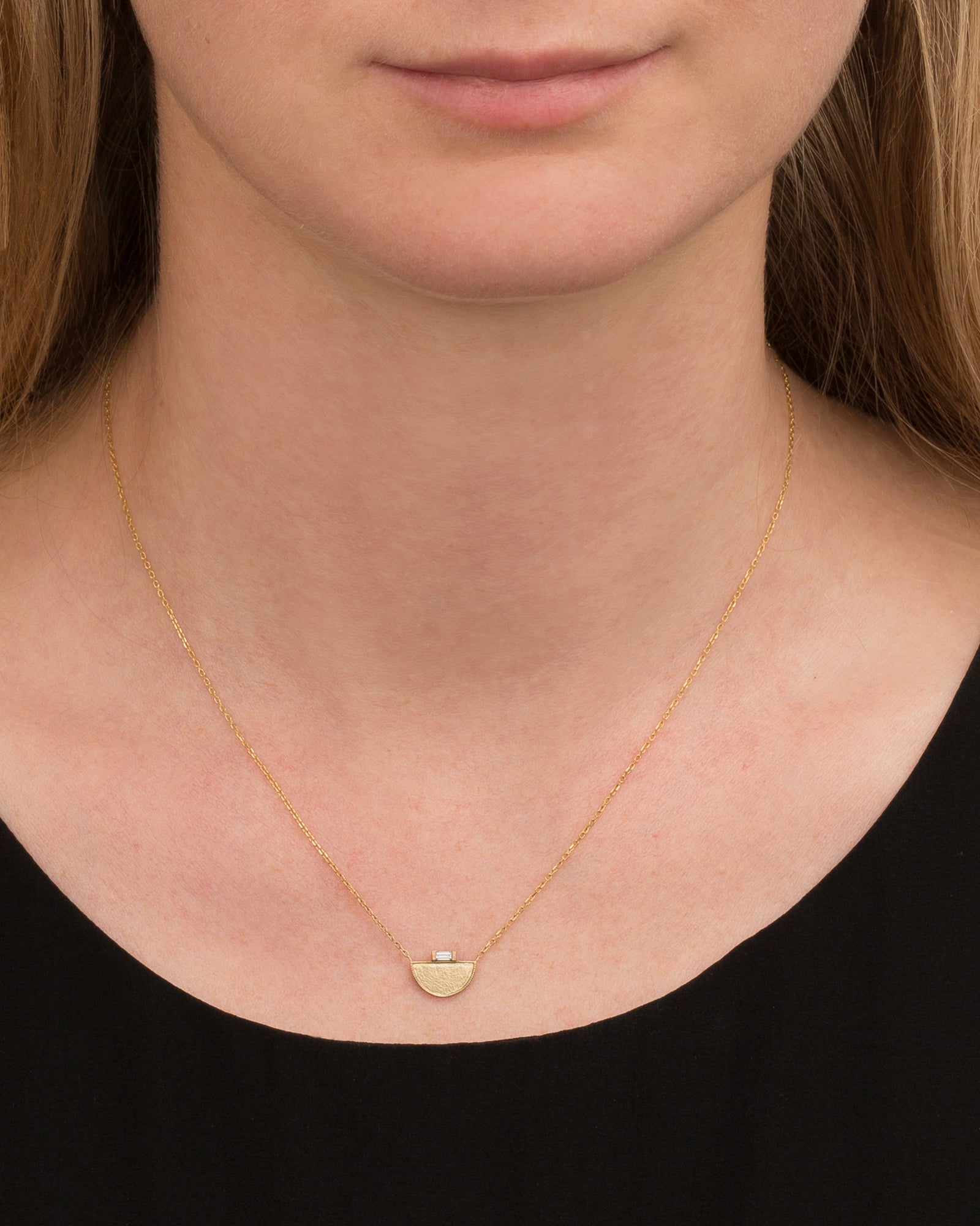 Half Moon Signet Necklace by Jennie Kwon for Broken English Jewelry