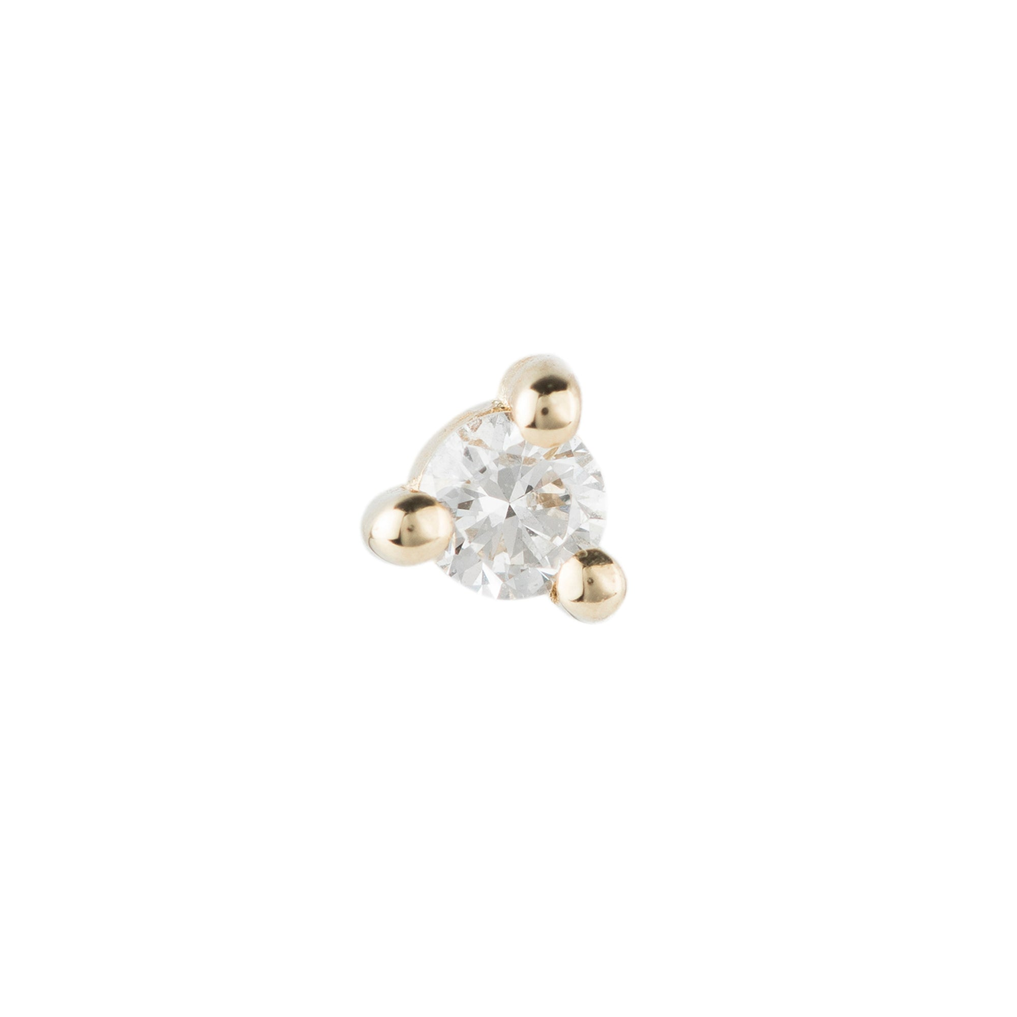 Diamond Dot Stud 1.5mm by Jennie Kwon for Broken English Jewelry