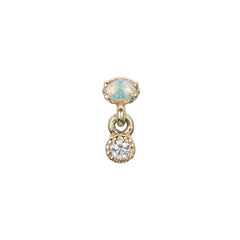 Diamond Opal Drop Stud by Jennie Kwon for Broken English Jewelry