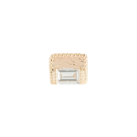 Baguette Block Stud by Jennie Kwon for Broken English Jewelry