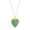 Jennifer Meyer Heart Pendant Necklace - Green Turquoise - Necklaces - Broken English Jewelry