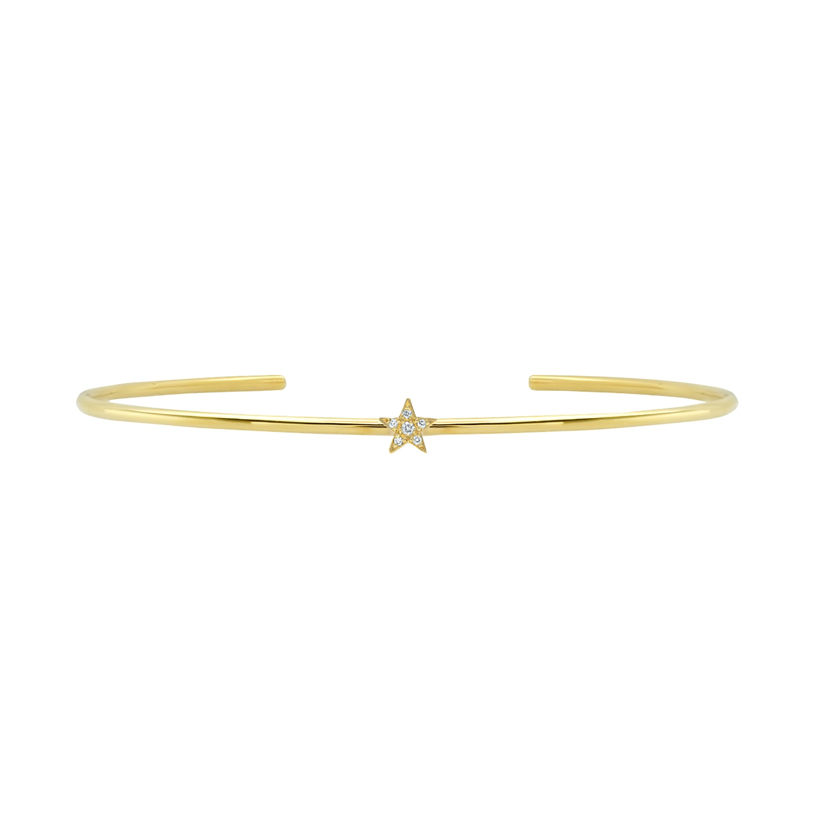 Jennifer Meyer Mini Star Cuff - White Diamond - Bracelets - Broken English Jewelry
