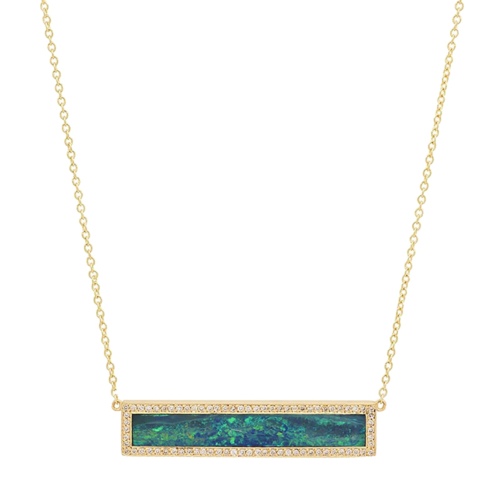 Jennifer Meyer Bar Necklace - Opal - Necklaces - Broken English Jewelry