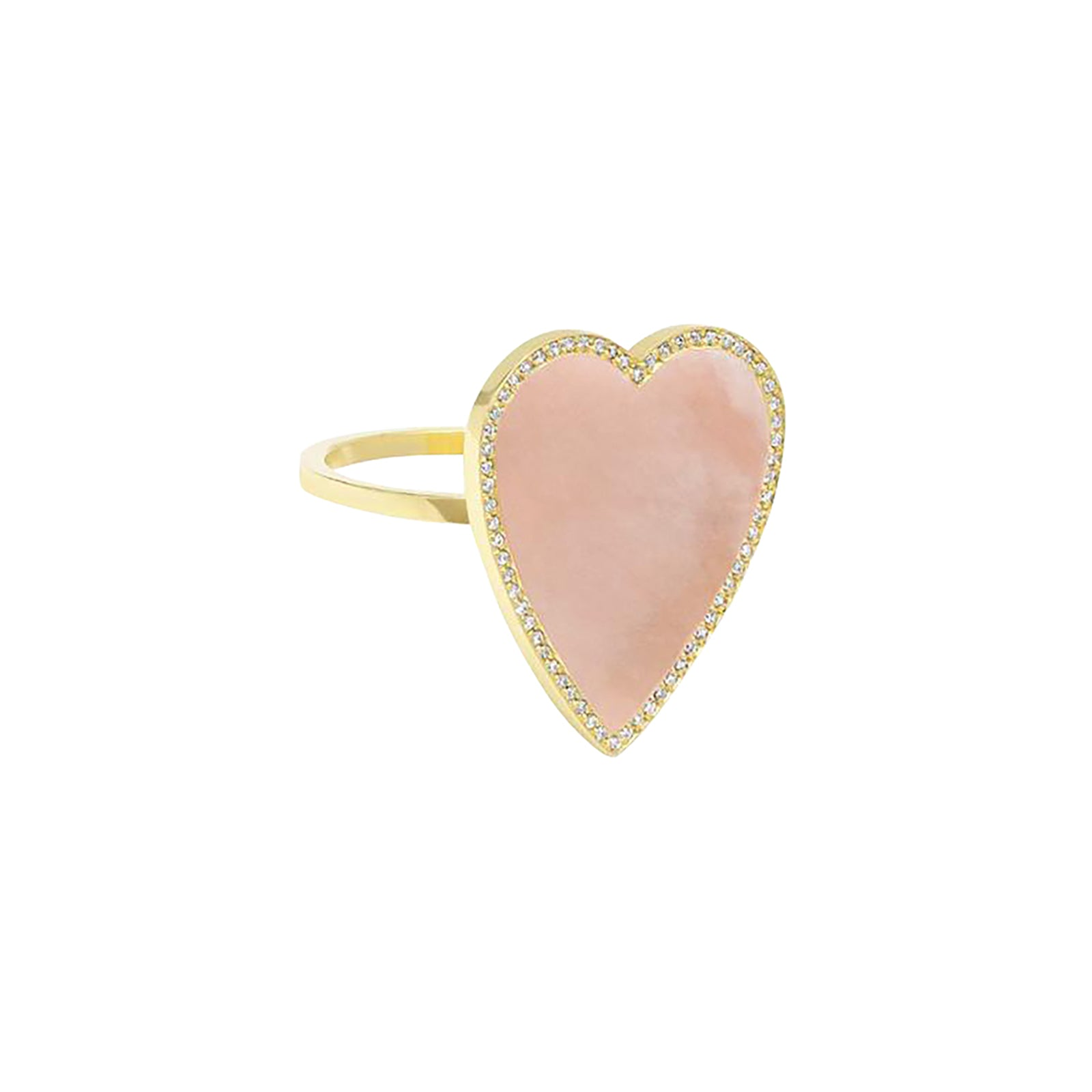 Jennifer Meyer Heart Ring - Pink Opal - Rings - Broken English Jewelry
