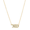 Jennifer Meyer XO Necklace - White Diamond - Necklaces - Broken English Jewelry