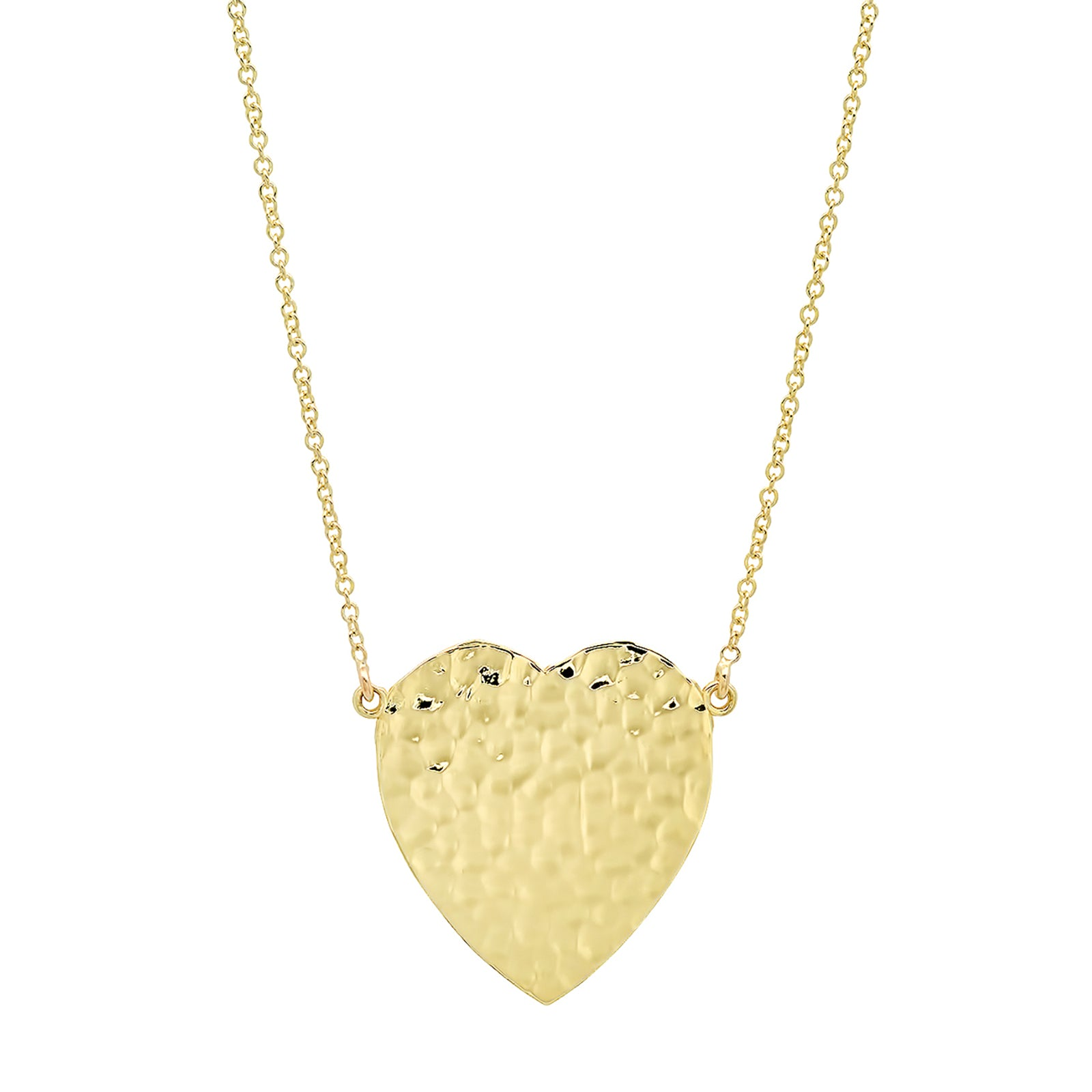 Jennifer Meyer Hammered Heart Pendant Necklace - Necklaces - Broken English Jewelry