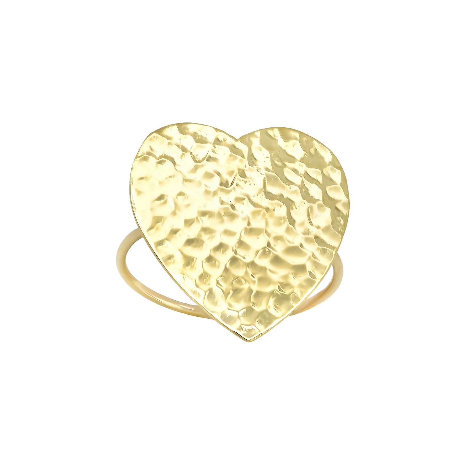 Jennifer Meyer Hammered Heart Ring - Rings - Broken English Jewelry