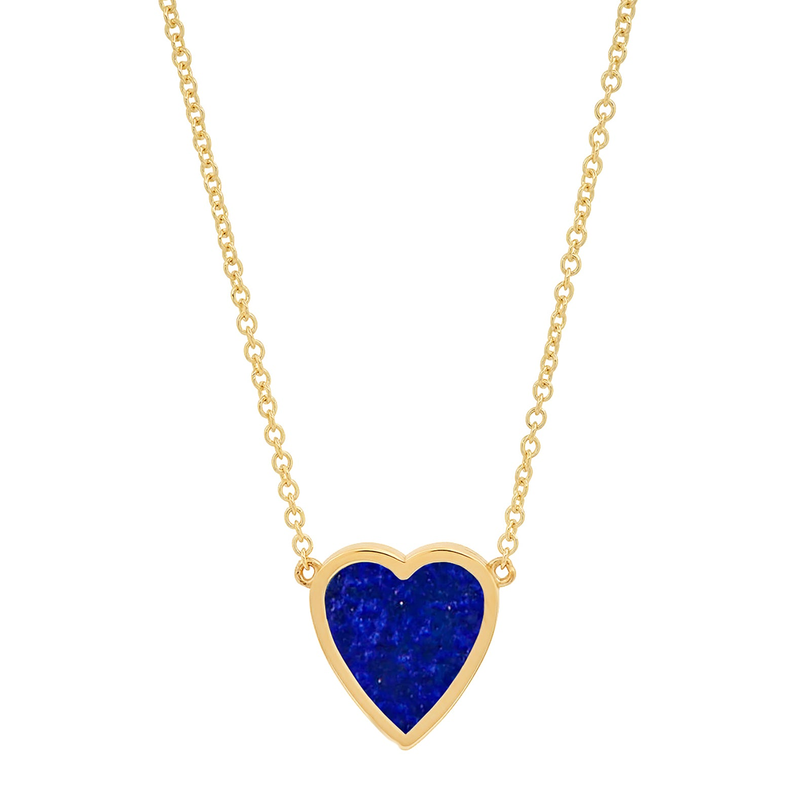 Jennifer Meyer Heart Mini Pendant Necklace - Lapis - Necklaces - Broken English Jewelry
