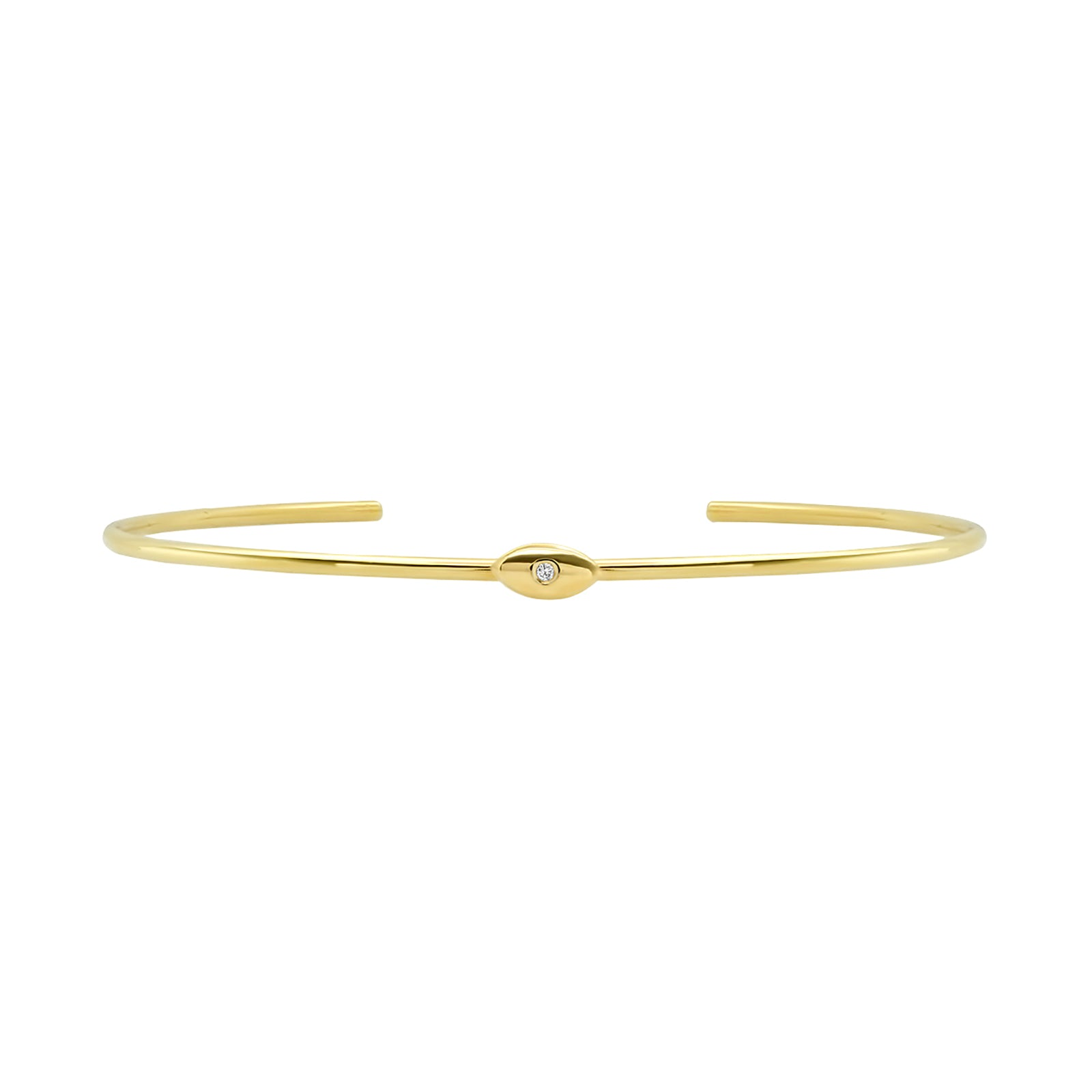 Jennifer Meyer Mini Evil Eye Cuff - Bracelets - Broken English Jewelry