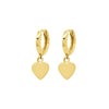 Jennifer Meyer Mini Huggies with Heart Drops - Earrings - Broken English Jewelry