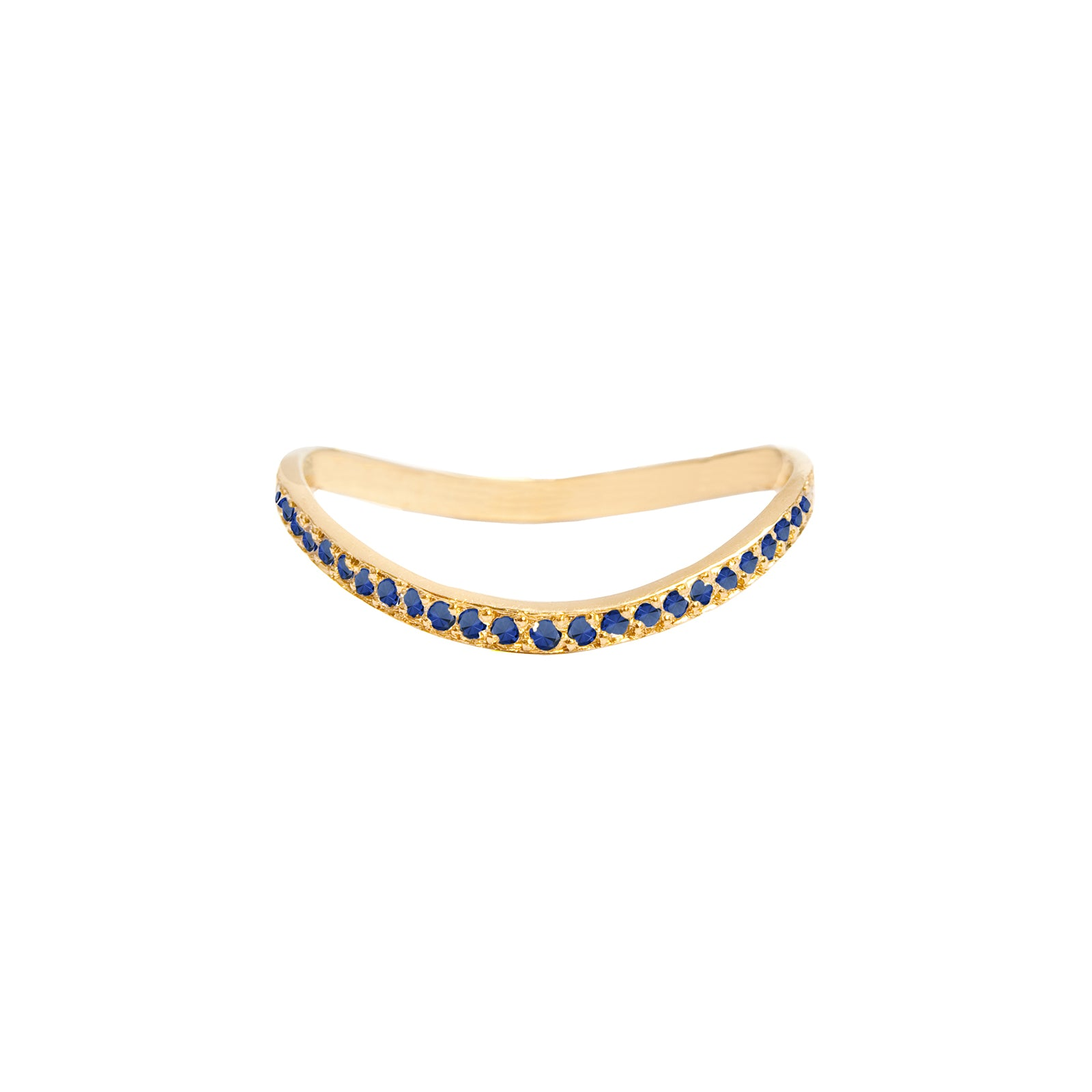 Jennifer Meyer Wave Ring - Blue Sapphire - Rings - Broken English Jewelry