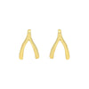 Jennifer Meyer Wishbone Studs - Earrings - Broken English Jewelry