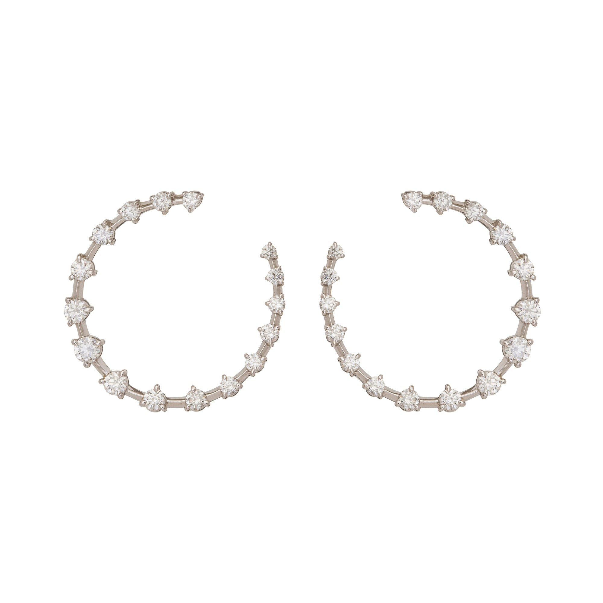 Crescent Hoops by Jade Trau for Broken English Jewelry