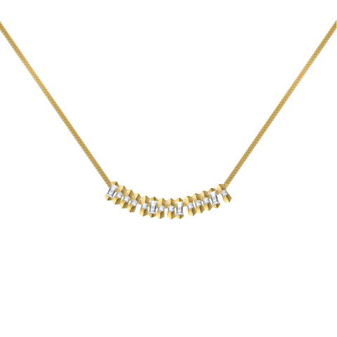 Diamond Morse Code 'Brave' Necklace - Jessie V E - Necklaces | Broken English Jewelry