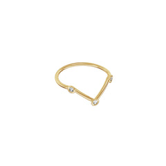 Gold & White Diamond Bellatrix Midi Ring by Jessie Ve for Broken English Jewelry