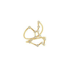 Gold & White Diamond Virgo Constellation Ring by Jessie Ve for Broken English Jewelry