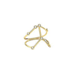 Gold & White Diamond Cancer Constellation Ring by Jessie Ve for Broken English Jewelry