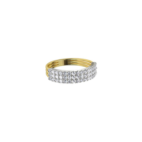 Gold & White Diamond Feel The Love Braille 8 Character Ring by Jessie Ve for Broken English Jewelry