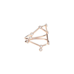 Gold & White Diamond Libra Constellation Ring by Jessie Ve for Broken English Jewelry