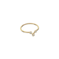Gold & White Diamond Vega Midi Constellation Ring by Jessie Ve for Broken English Jewelry
