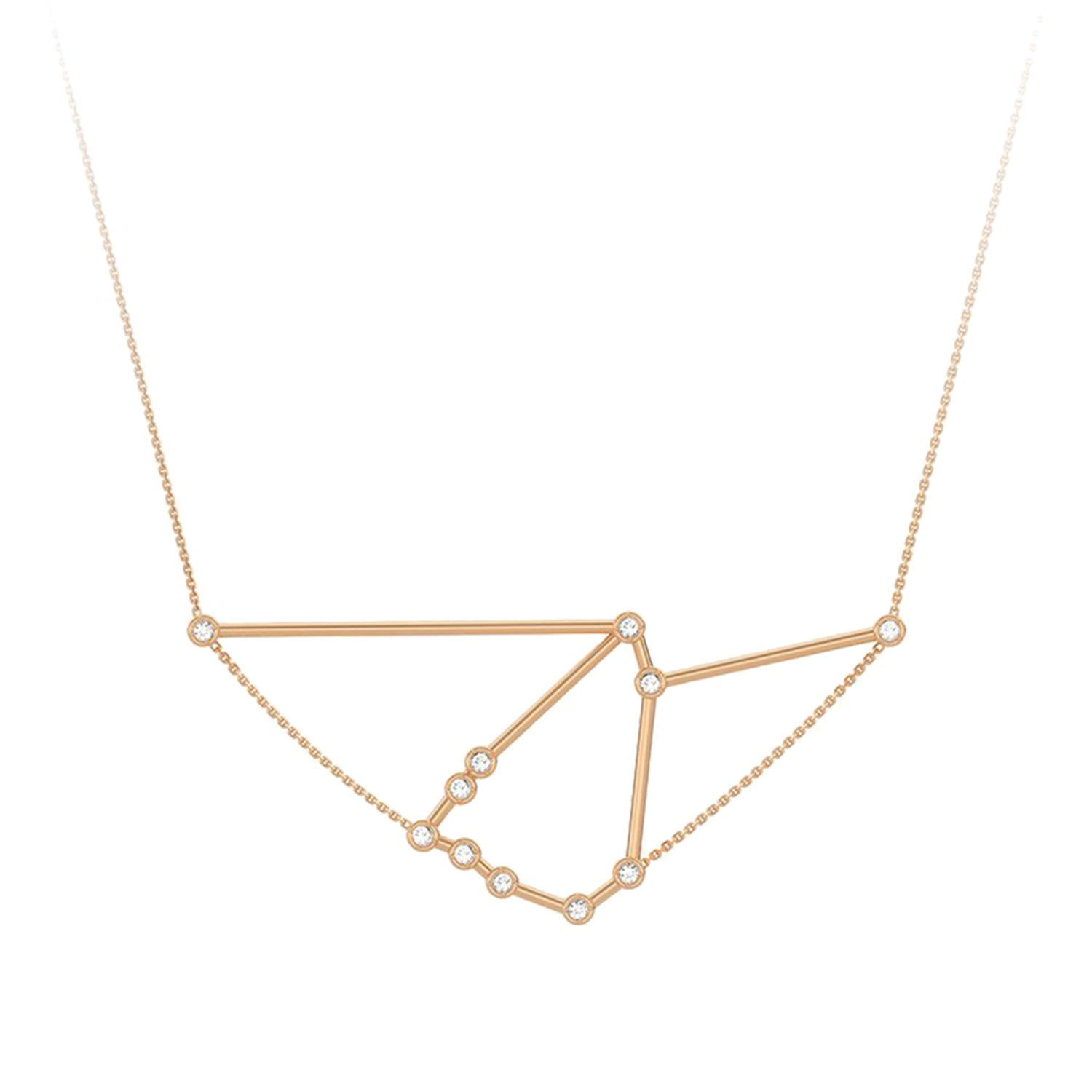 Gold & White Diamond Capricorn Constellation Necklace by Jessie Ve for Broken English Jewelry