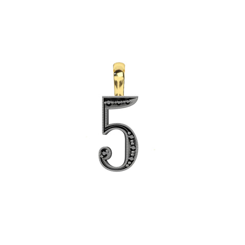 Number 5 Pendant - Jessie V E - Charms & Pendants | Broken English Jewelry