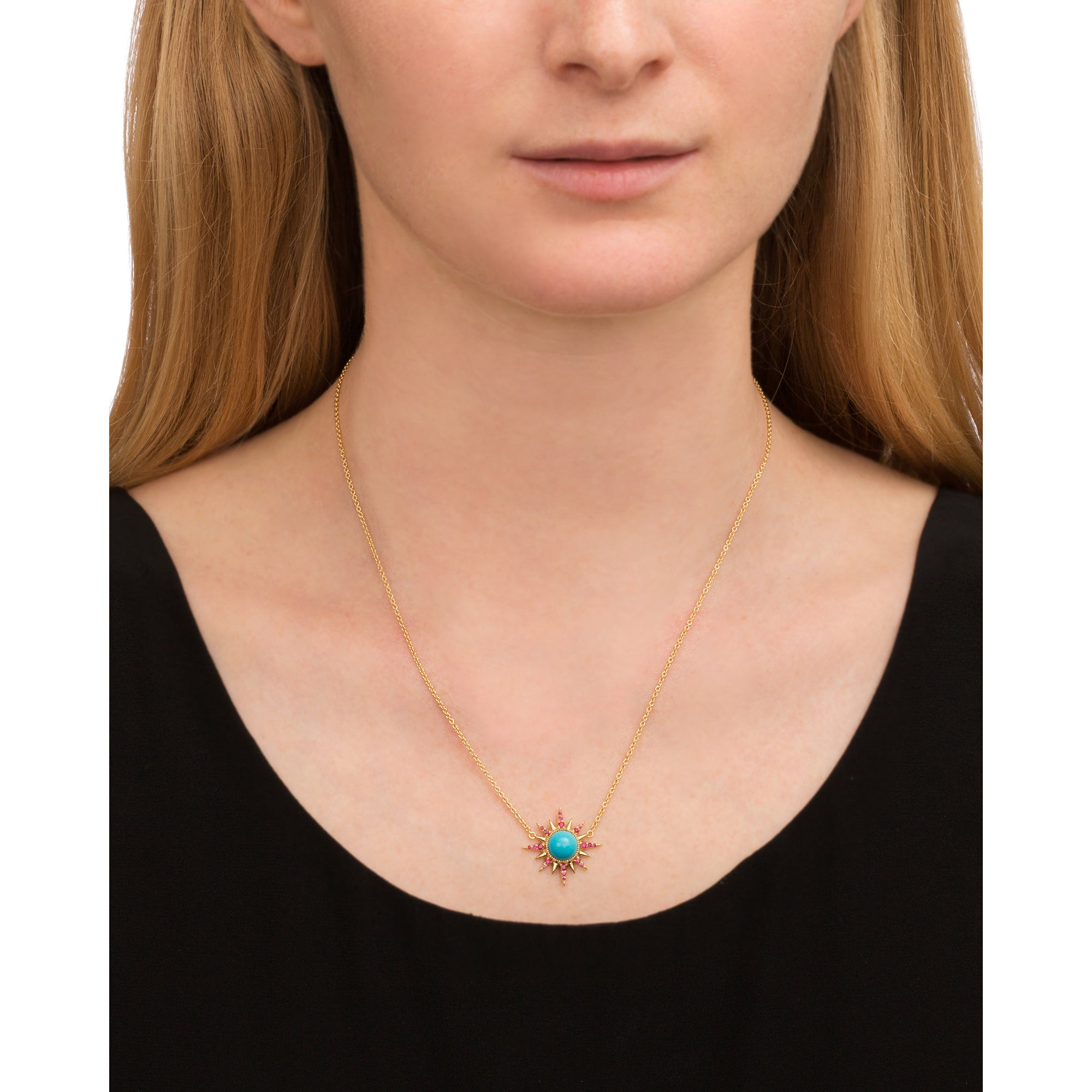 Turquoise Electra Necklace by Jenny Dee for Broken English Jewelry