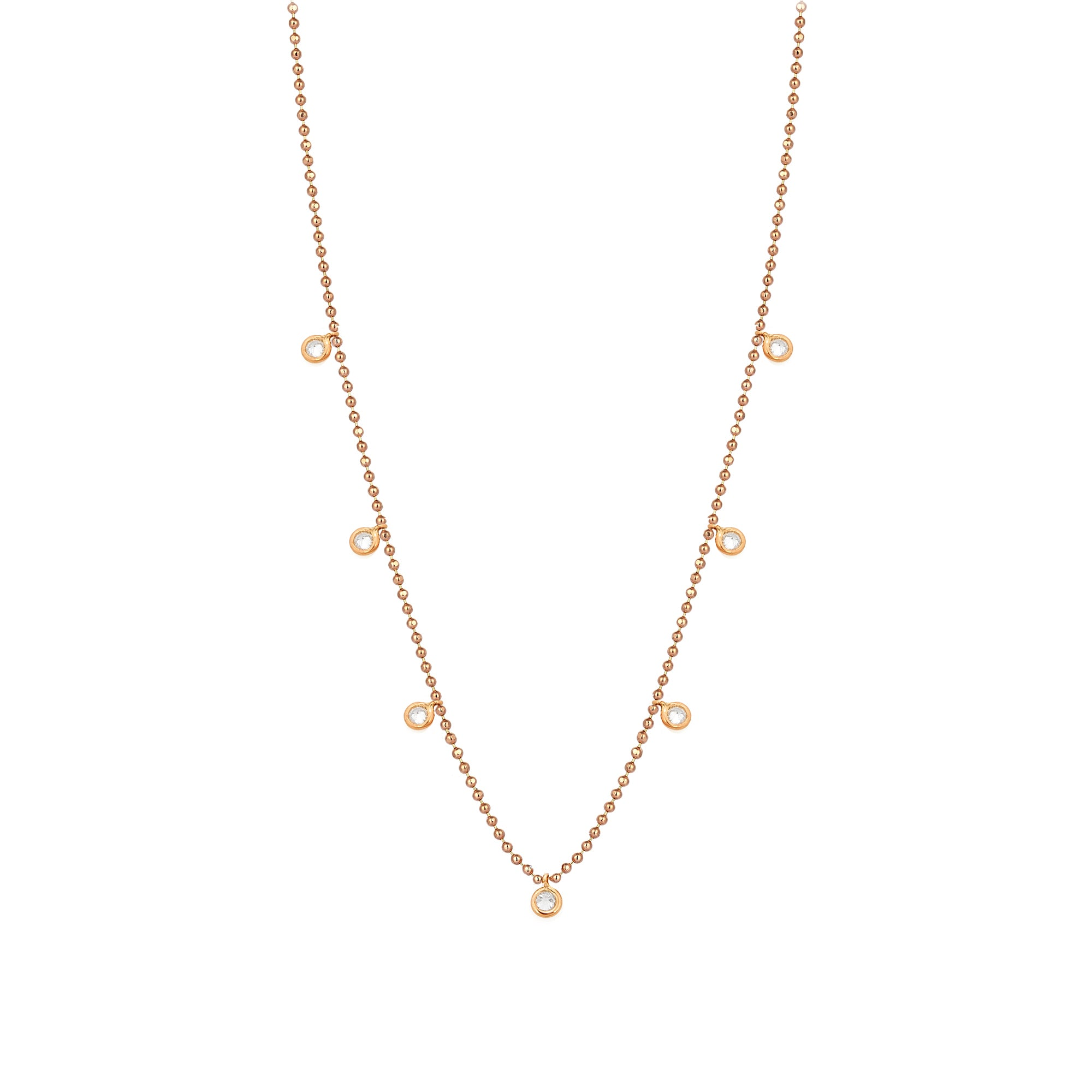 Toptop 7 Solitaire Necklace by Kismet for Broken English Jewelry