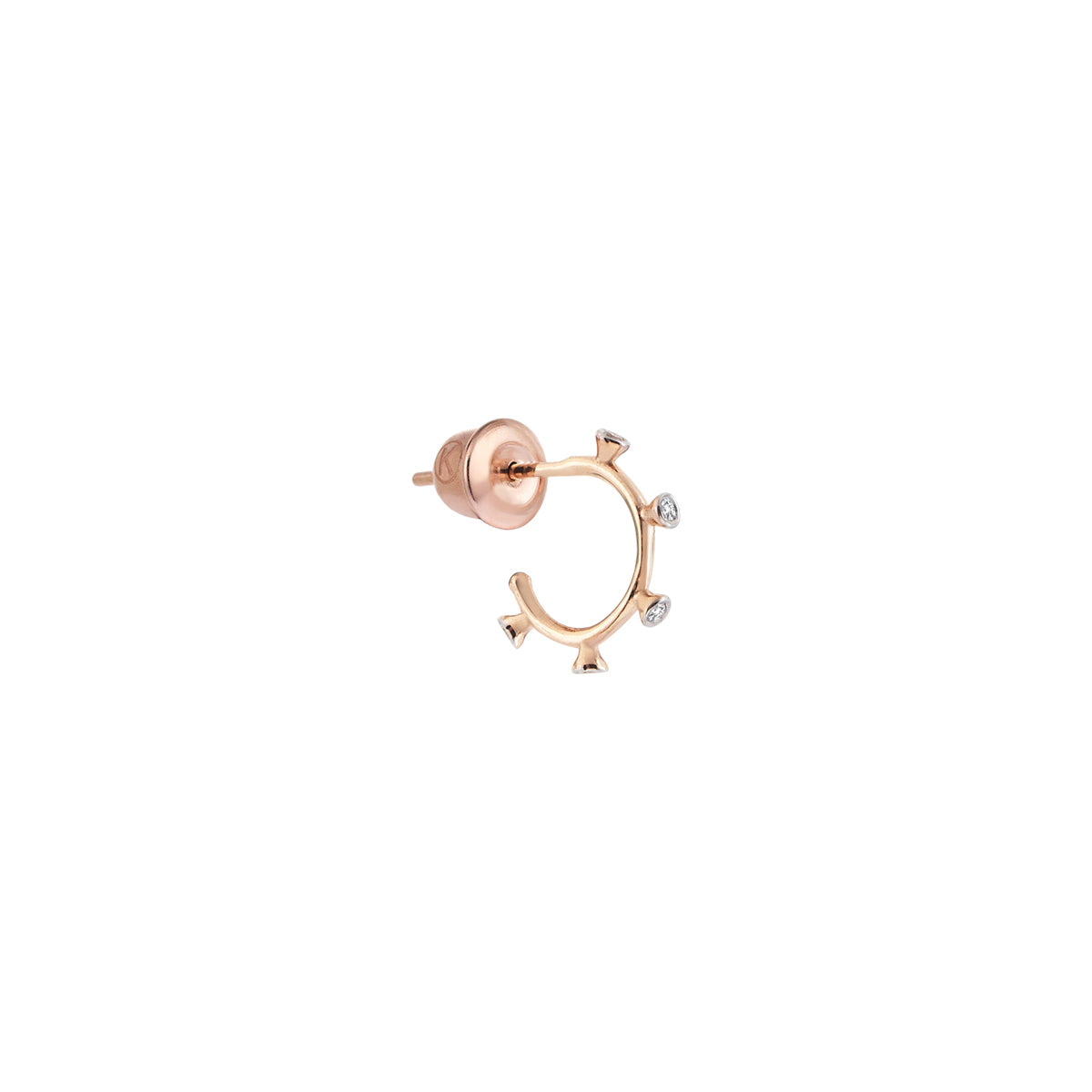 5 Solitaires Hoop Earring by Kismet for Broken English Jewelry
