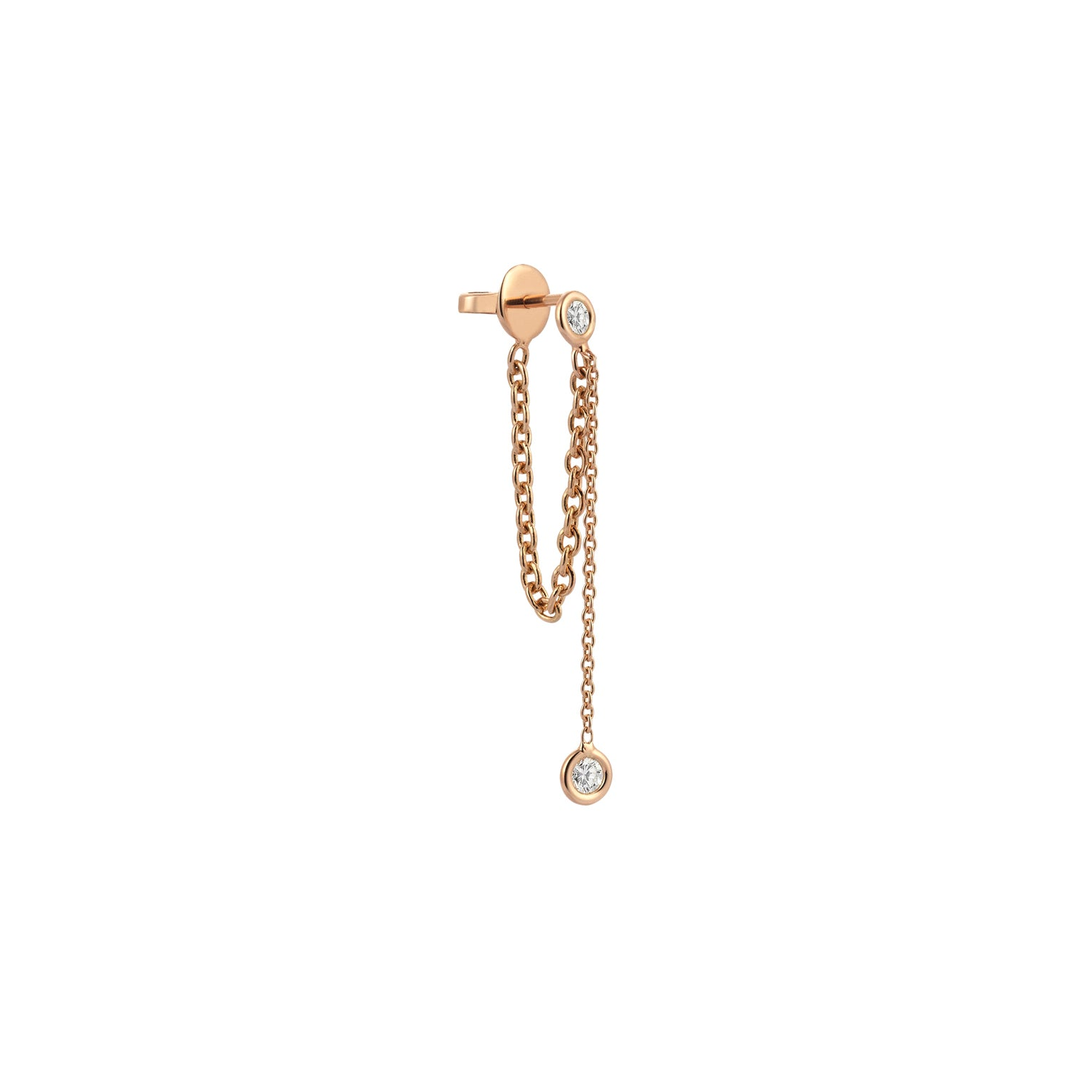 Drop Chain Solitaire Earring by Kismet for Broken English Jewelry
