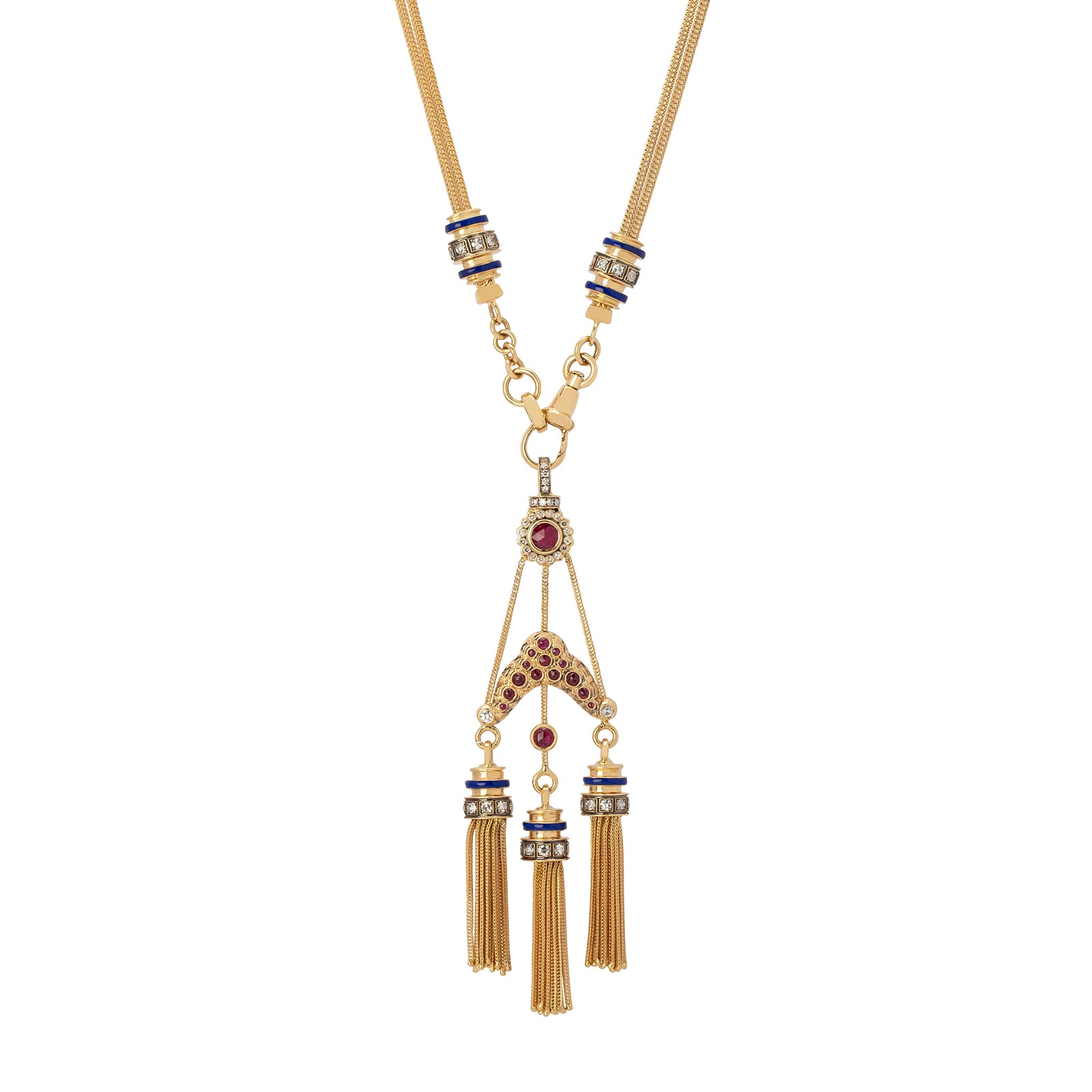 Selim Mouzannar Kastak Necklace - Diamond & Ruby - Necklaces - Broken English Jewelry