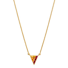 Ruby and Fancy Sapphire Triangle Necklace by Kavant & Sharart for Broken English Jewelry