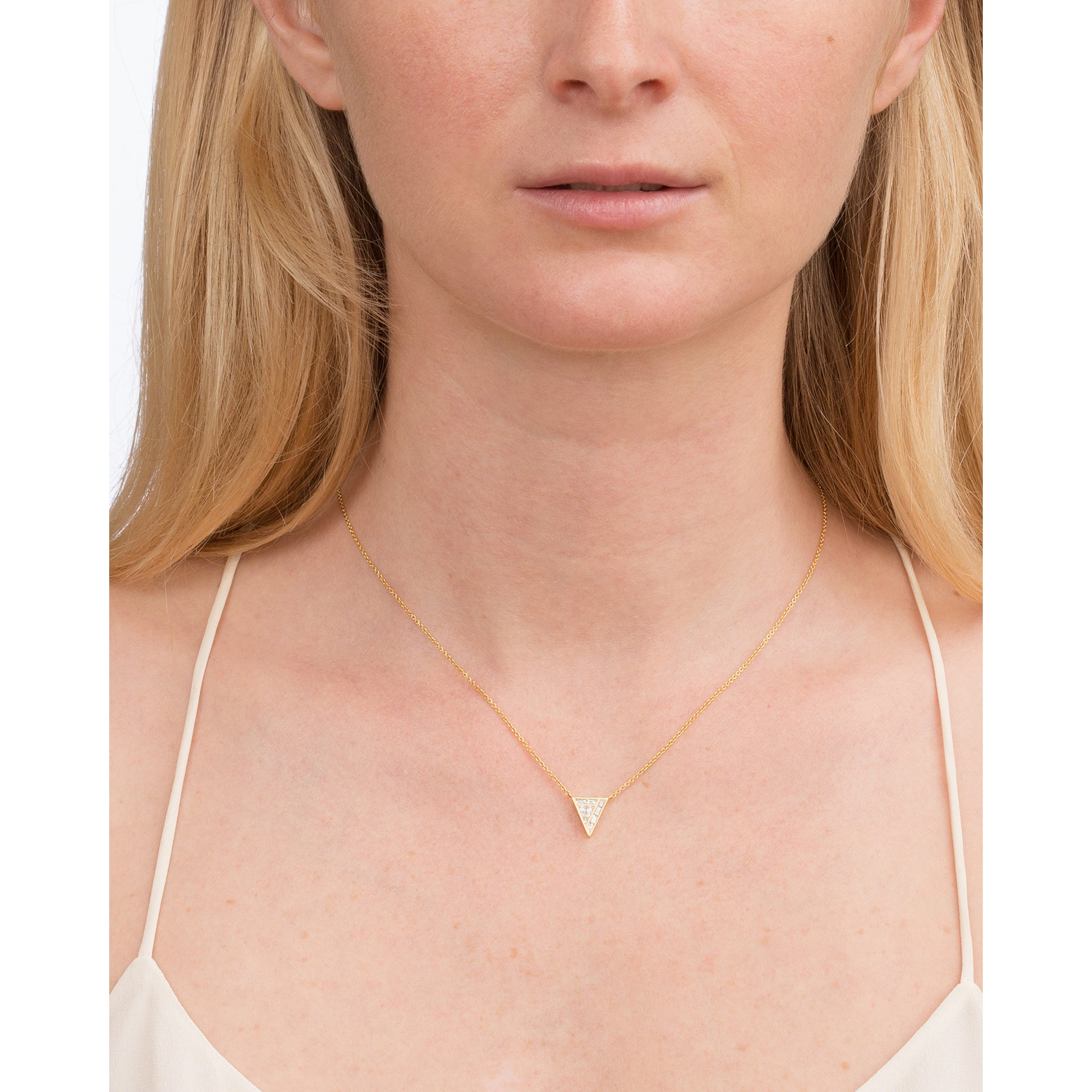 Diamond Triangle Necklace by Kavant & Sharart for Broken English Jewelry