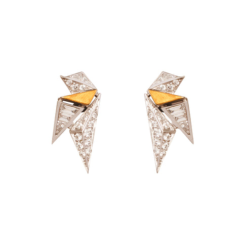 Diamond Origami Earrings by Kavant & Sharart for Broken English Jewelry