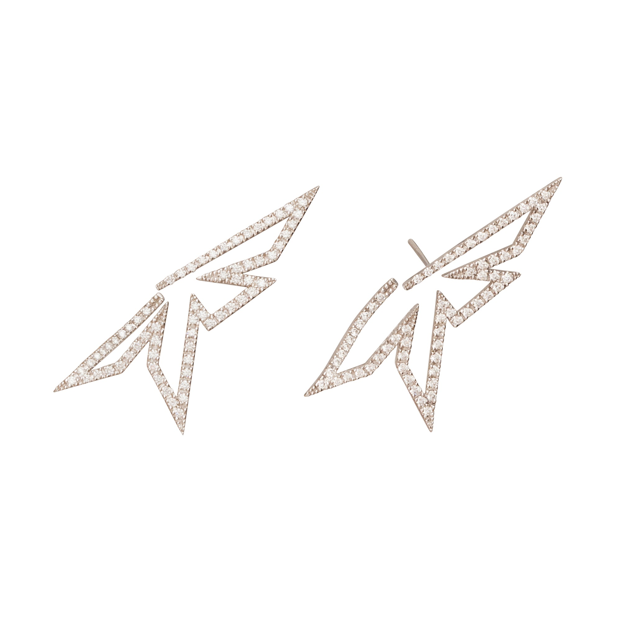 Origami Silhouette Earrings by Kavant & Sharart for Broken English Jewelry