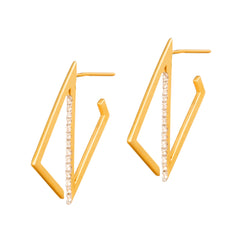 GeoArt Trapeze Hoops by Kavant & Sharart for Broken English Jewelry