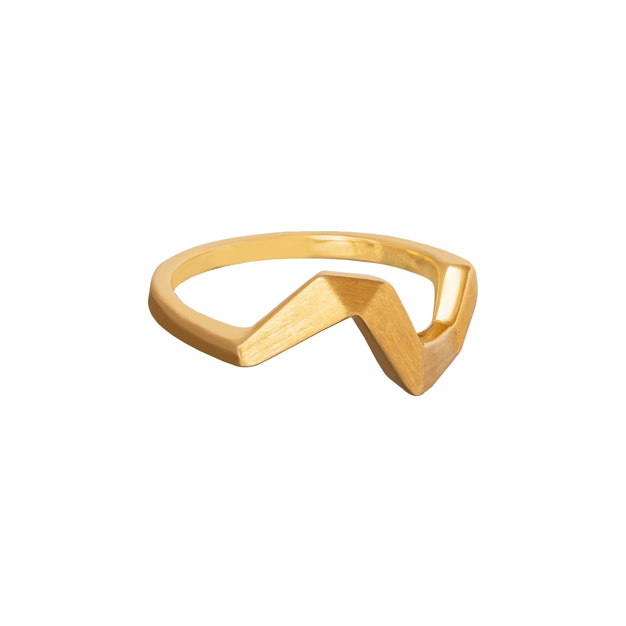 Origami Brushed Gold Ring - Kavant & Sharart  - Rings | Broken English Jewelry