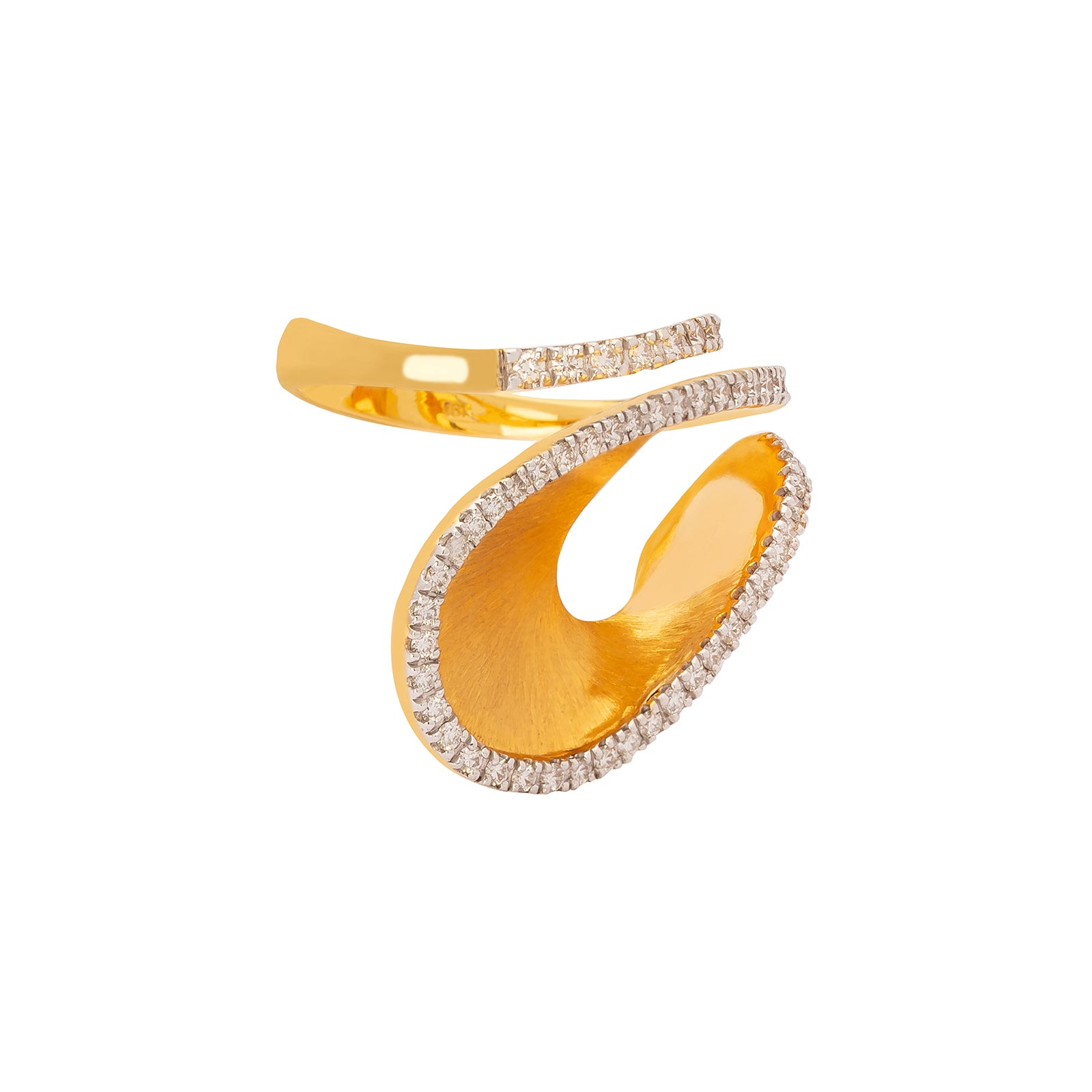 Kavant & Sharart Talay Dancing Wave Ring - White Diamonds - Rings - Broken English Jewelry
