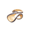 Talay Blue Sapphire Dancing Wave Ring - Kavant & Sharart  - Rings | Broken English Jewelry