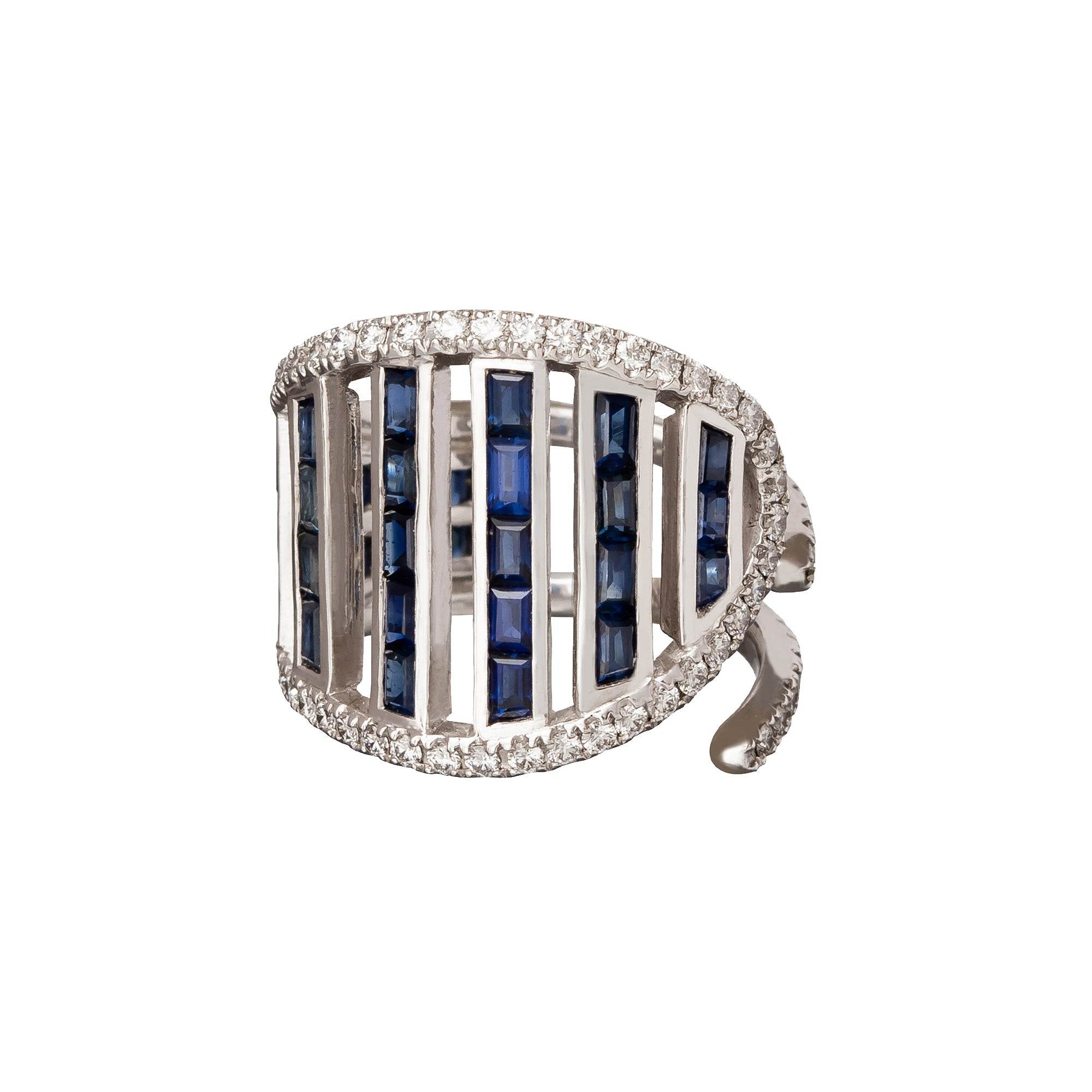 Blue Sapphire and Diamond Ring - Kavant & Sharart  - Rings | Broken English Jewelry