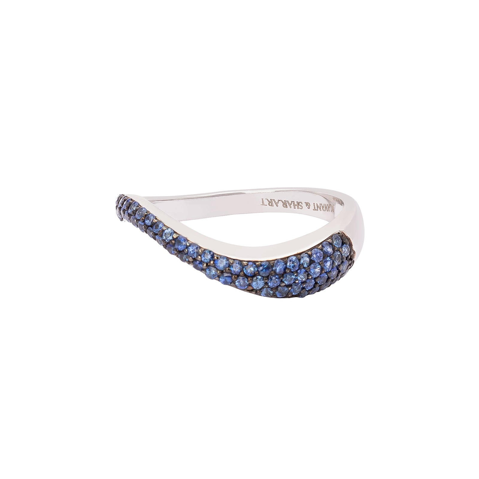 Kavant & Sharart Talay Flow Wave Ring - Sapphire - Rings - Broken English Jewelry