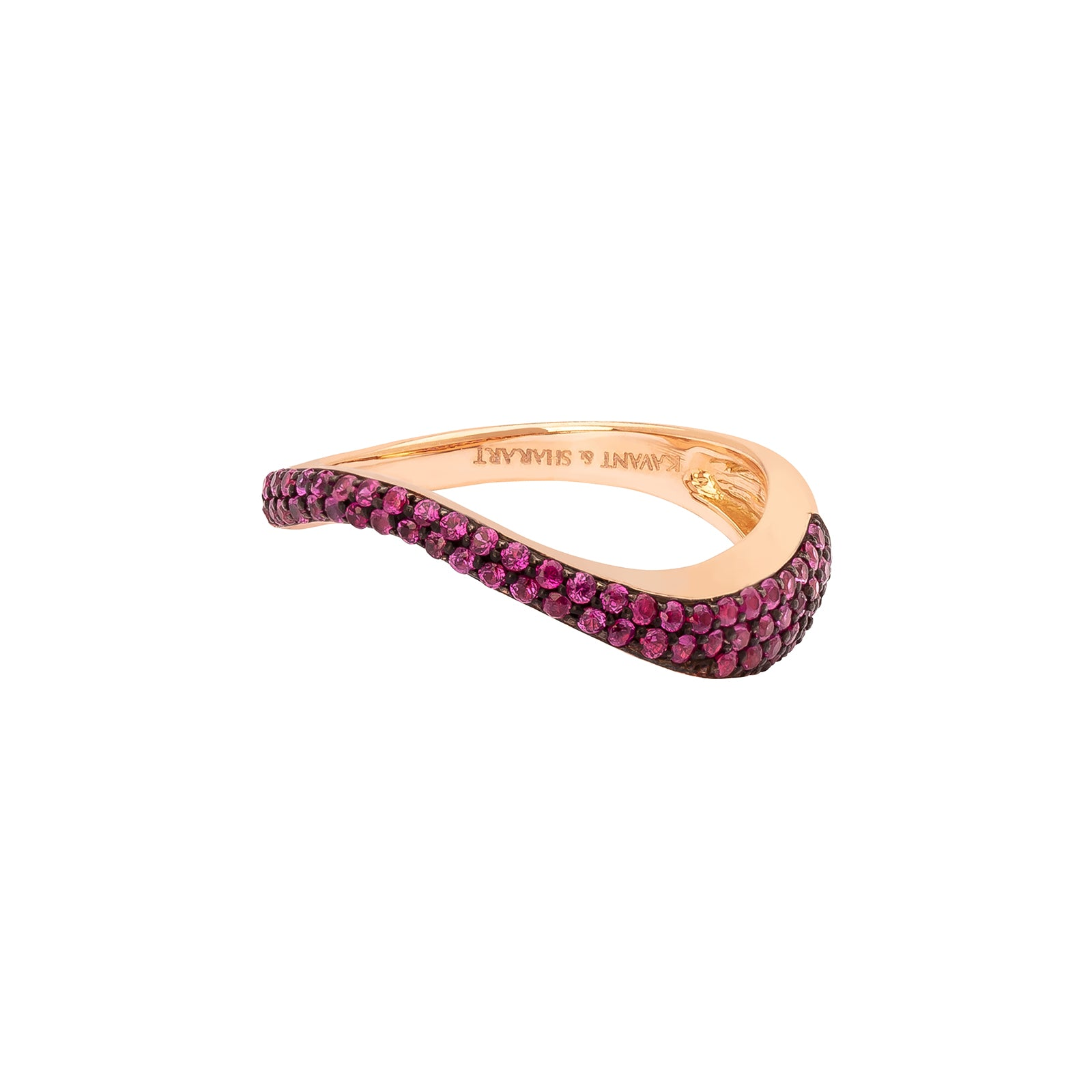 Kavant & Sharart Talay Flow Wave Ring - Ruby - Rings - Broken English Jewelry