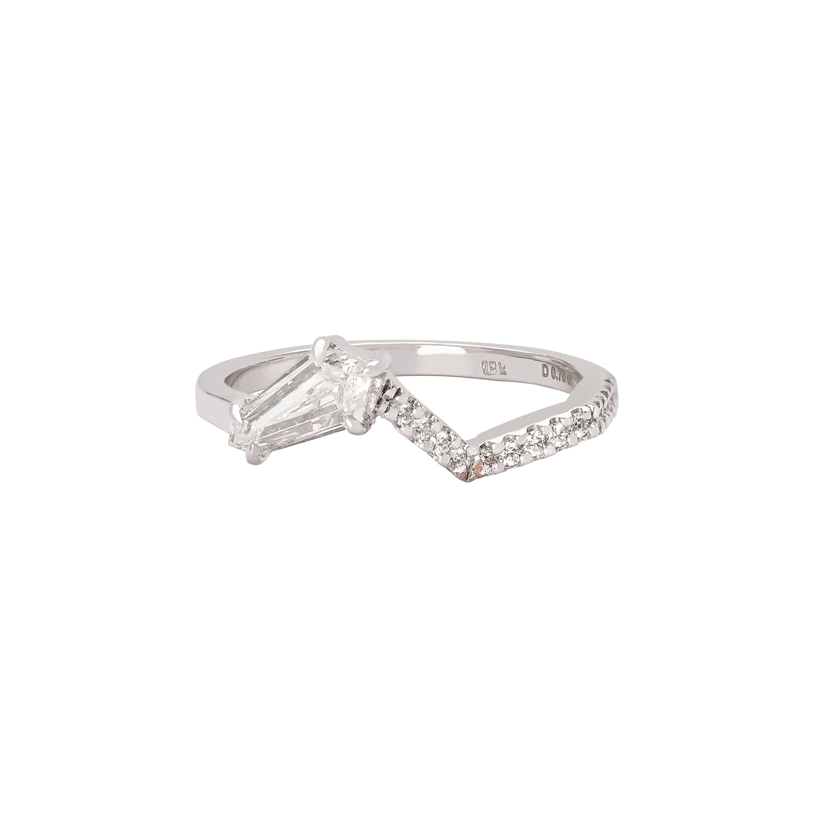 Kavant & Sharart Origami Ziggy Diamond Stack Ring No.3 - Rings - Broken English Jewelry