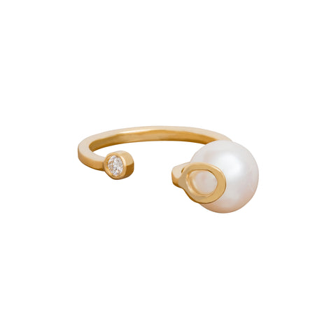Pearl & Diamond Ring - Katey Walker - Rings | Broken English Jewelry